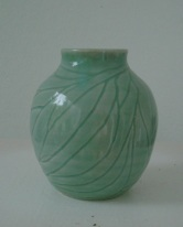 Kim's porcelain vase with celadon 2013