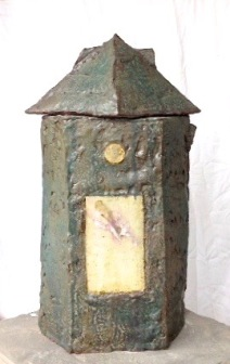 Structure with Dream Images stoneware clays copper, magnesium, iron glazes